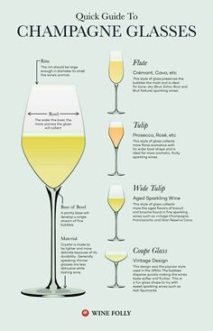 Guide to Champs stemware. Must know. Always. ♡