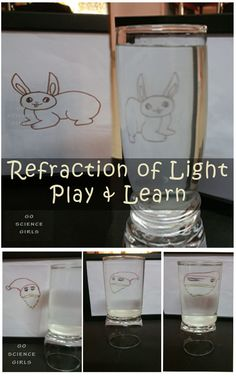 Refraction of Light : Play Learn Activity for Kids - Go Science Girls Reflection And Refraction, Refraction Of Light, Art Activities For Kids, Learning Activities, Preschool Ideas, First Grade Science, Middle School Science, Physics Projects, Kid Experiments
