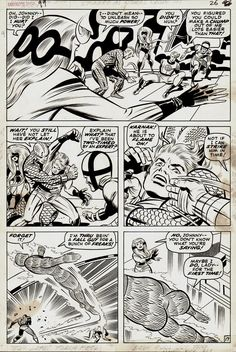 Jack Kirby and Joe Sinnott Fantastic Four #99 p 17 (1970)