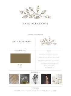 Gold Geometric Logo design - Susan Brand Design