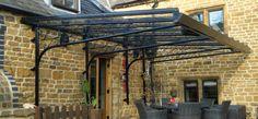 Black ornate cantilever glass in Oxford UK.