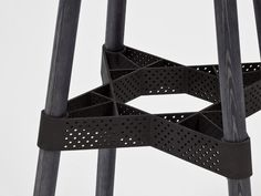 Vandasye's laser sintered seat is mostly made of wood but is mounted and reinforced underneath with 3D printed parts.
