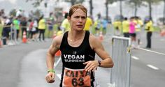 """Fiona Oakes is an elite marathon runner and an animal advocate and caregiver. """"Almost every day of my life is spent caring and providing for rescued animals at the Tower Hill Stables Animal Sanctuary. Runner Diet, Vegan Runner, Plant Based Diet Plan, Famous Vegans, Runners Food, Nfl, Record Holder, Marathon Runners, Sports"""
