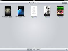 Google Books Appel iPad -tabletissa