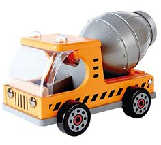 Hape Mix N Truck Wooden Construction Toy Vehicle >>> Click image for more details-affiliate link. Wooden Puzzles, Wooden Toys, Baby Toys Sale, Magnetic Book, Hape Toys, Mixer Truck, Amazon Sale, Toy R, Shops