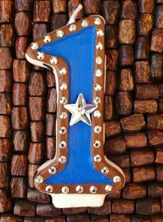 Cowboy Birthday Candle by cutiepootie on Etsy
