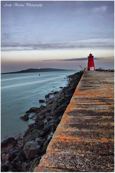 Poolbeg Lighthouse by Andy Barisa, via (Dublin Bay) - Attribution-NonCommercial creativecommons. Dublin Bay, Lighthouse Keeper, Ireland Homes, Irish Traditions, Emerald Isle, I Want To Travel, Shades Of Green, Adventure Time, Coastal