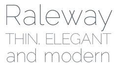 Modern font  THIN ELEGANT