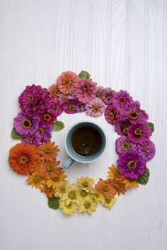 Flowers and tea are making me happy today.