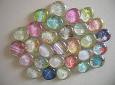 Glass gem magnets - $1 project