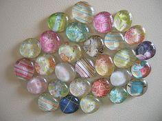 Glass gem magnets {cute}