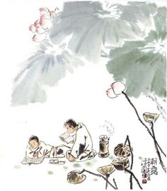 "Korean Artist ""damwon Kim-Chang bae大韓民國 潭園金昌培 畵家 "" Zen Art조로(55×60cm)"