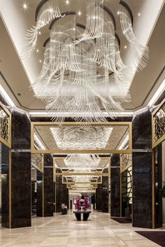 We Created And Installed Crystal Chandeliers In More Than 50 Interiors Throughout The Raffles Hotel