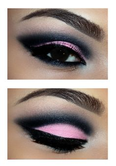 Pink With Black Cut Crease Eyes ✿ܓ