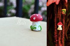 Handmade, Fly Agaric, Polymer Dreadlock Bead https://www.facebook.com/KnotfarfromHair