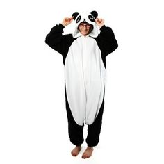 "Panda Kigurumi now featured on Fab. Kigurumi translates to ""to wear KIGU stuffed animals RUMI.  This for lounging around the house OR for super casual fridays at work"