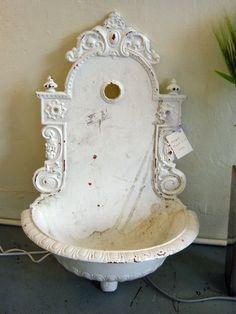 Antique French Garden Sinks is part of French garden Patio - Modern Victorian French Decor, French Country Decorating, Gardening Supplies, Lavabo Exterior, Garden Sink, Garden Bar, Outdoor Sinks, Garden Fountains, Outdoor Fountains