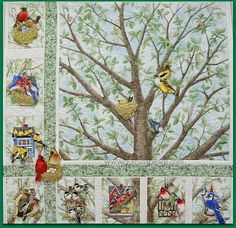 """First off, a big THANKS to Madame Samm @ Sew We Quilt/Sew We Stitch, for organizing this hop featuring """" Beautiful Birds """" fabric des..."""