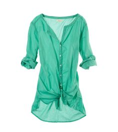 Aerie Buttoned Beach Cover Up
