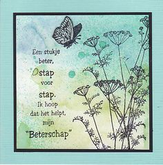 Beterschap E Cards, Paper Cards, Cool Cards, Diy Paper, Get Well Wishes, Dutch Quotes, Love Stamps, Get Well Soon, Get Well Cards