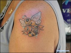 bumble bee tattoo for girls Girl Tattoos, Tatoos, Bumble Bee Tattoo, Girls, Bee Tattoo, Little Girls, Daughters, Maids, Tattoo Girls