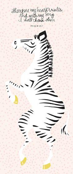 Pink Zebra Right Art Print