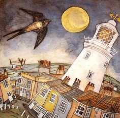 By golden moon the visitor arrives, Southwold by Mandy Walden