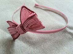 Light Pink Sequined Bow Headband by  #dteam SomethingColorful on Etsy, $ 15.00