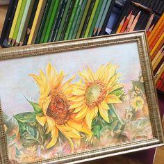 액자넣을때뿌듯 #그림 #색연필 #해바라기 #art #artwork #sketch #draw #いちご #drawing #paint #painting #coloredpencil #花 #일러스트 #illust #アート #絵 #スケッチ #落書き #描いてみた  #色鉛筆 #프리즈마 by k.hj