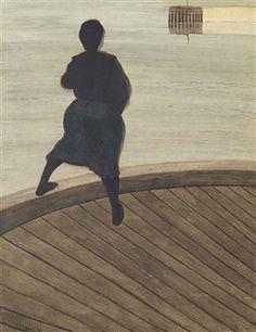 Femme de pêcheur sur un ponton By Leon Spilliaert ,1909