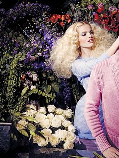 """Daphne Groeneveld (wearing Dior) in """"Flowers for Fernando"""" by Tom Ford for CR Fashion Book #4 Spring/Summer 2014"""