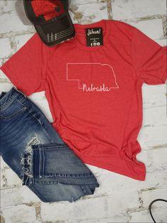 Fun Themed Mens T-Shirt USA College NEBRASKA Midwestern America State