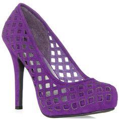 JustFab Bevin - Purple ($60) ❤ liked on Polyvore