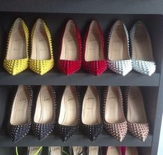 shop Louboutin spike pumps