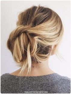 The Twist & Tuck Bun - Easy Back to School Hairstyles to Let You Sleep In Later - Photos