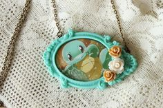 Pokemon Necklace SQUIRTLE Pokémon Trading Card by GlitzCouture
