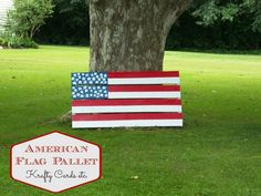 American Flag Pallet for the Fourth of July