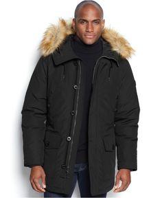 MICHAEL Michael Kors Mandal Faux-Fur-Trim Hooded Down Parka - Coats & Jackets - Men - Macy's