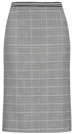 6c5ec7269c Plaid Pencil Skirt with Vented Sides #lined#High#waisted Plaid Pencil Skirt,