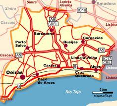 Mapa: Oeiras