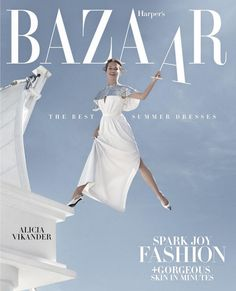 Alicia Vikander poses in Louis Vuitton dress with embroidered cape and shoes for Harper's Bazaar US April 2019 Alicia Vikander, Revista Bazaar, Louis Vuitton Dress, Swedish Actresses, Female Actresses, The Danish Girl, Harper's Bazaar, Dior, Indie Films