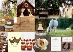 #Barn #wedding inspiration board