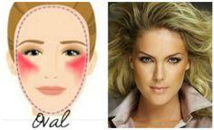 Blush: rosto oval