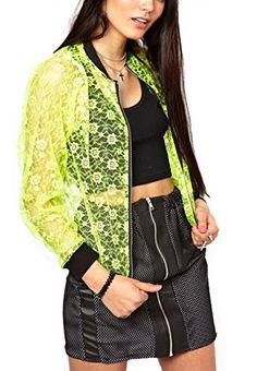 Cheap jackets, Buy Quality zipper pull directly from China zipper puller Suppliers: DESCRIPTION Season: Summer Color: Green Material: Polyester Style: Sports Pattern Type: Plain Col Summer Colors, Neon Green, Casual, Bomber Jacket, Zipper, Cheap Jackets, Clothes For Women, My Style, Sweatshirts