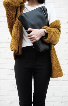 #winter #fashion / mustard knit