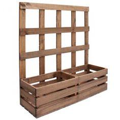 jardinera de madera de pino gallego especial para plantar plantas trepadoras fabricada en espaa cajas de frutaideas