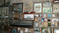 Vue d'Ex-Voto marins dont des maquettes de bateaux à ND de la Garde à la Garoupe