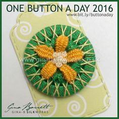 Day 91: Texas Yellow Star #onebuttonaday by Gina Barrett