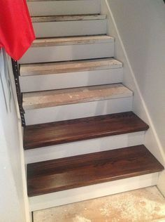 DIY From Carpet to Beautiful Wood Stairs - Cheater Version...! Very Low Cost, low Effort, High Impact, Home Update!