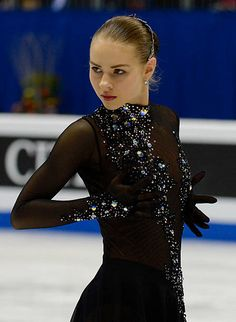Angelina Kuchvalska of Latvia performs during the Ladies Free Skating during day three of the ISU European Figure Skating Championships 2016 on January 2016 in Bratislava, Slovakia. Get premium, high resolution news photos at Getty Images Isu Figure Skating, Figure Skating Outfits, Figure Skating Costumes, Ice Dresses, Ice Skating Dresses, Skating Pictures, Tango Dress, Beautiful Costumes, Ballroom Dress